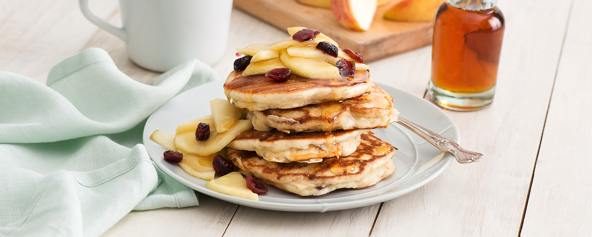 Photo for - Apple Cheddar Pancakes with Crispy Bacon