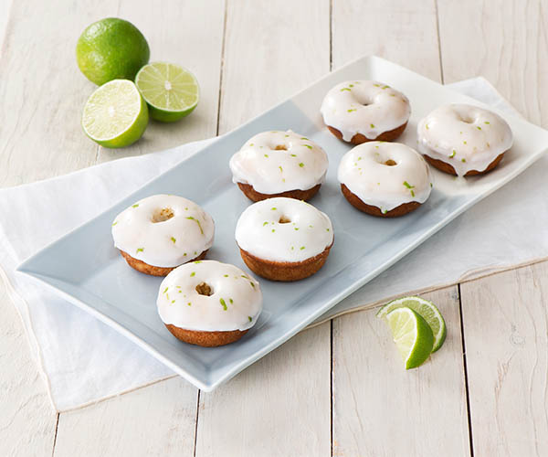 Photo of - Baked Sour Cream Doughnuts with Lime Glaze