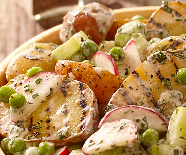Photo of - Creamy Herb Grilled Potato Salad