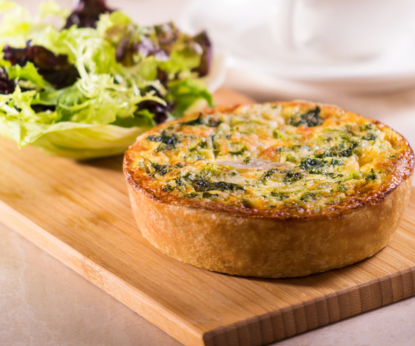 Photo of - Smoked Chicken and Asparagus Quiche